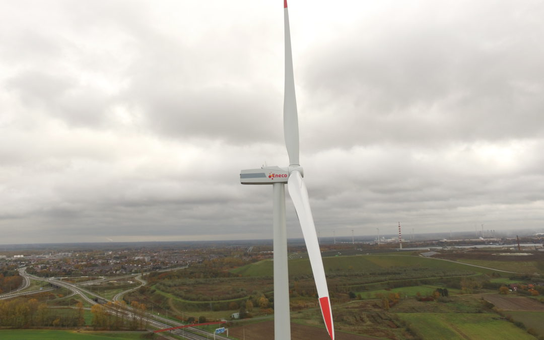 December 2018 windturbine Zelzate operationeel