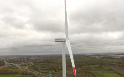 December 2018 windturbine Zelzate operationeel